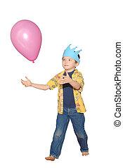 Birthday balloon boy