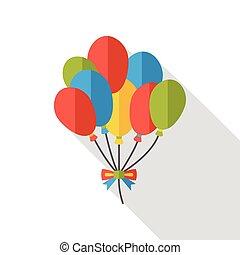 birthday balloon flat icon