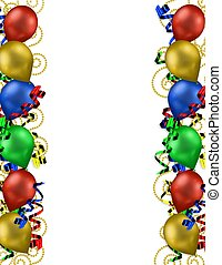 Birthday Balloons Border for greeting card or invitation...