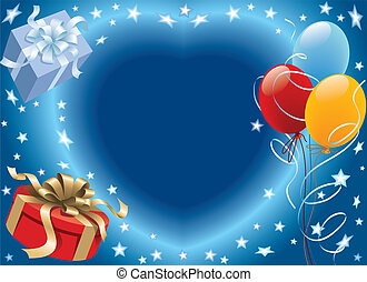 Balloons decoration ready for birthday and party, vector illustration.
