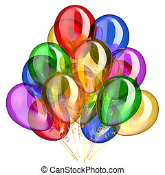 Birthday balloons party decoration multicolored translucent