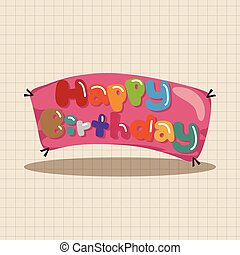 birthday banner theme elements