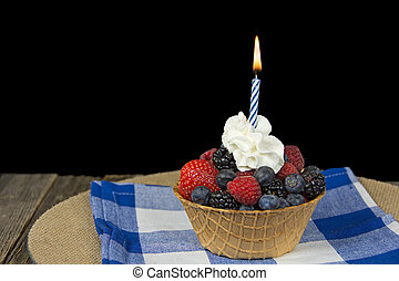 birthday berry candle
