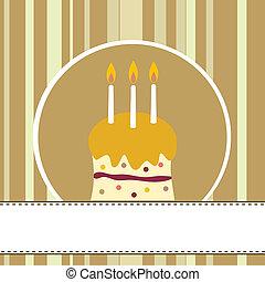 Birthday - birthday cake card