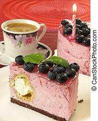 Birthday blueberry cake