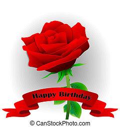 birthday!, blume, glücklich