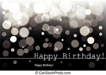 birthday, bw, 幸せ