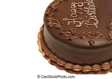 Birthday Cake 1 - A chocolate birthday cake with chocolate...
