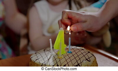 Birthday cake and candles birthday party