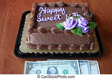 Birthday cake and Money