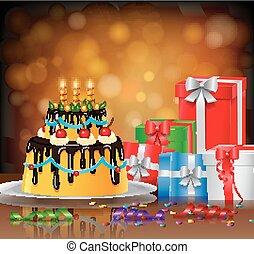 birthday cake background