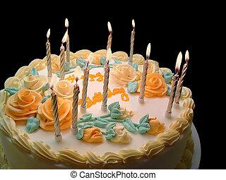 Birthday Cake - Birthday cake with candles