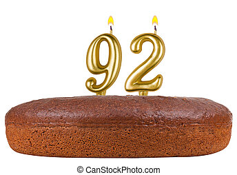 birthday cake candles number 92 isolated - birthday cake...