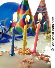 Birthday cake, closeup