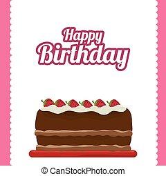 birthday cake dessert