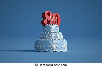 Birthday cake eighty anniversary