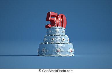 Birthday cake fifty anniversary