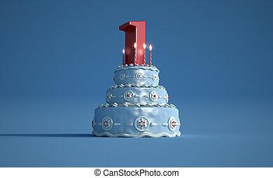 Birthday cake first anniversary