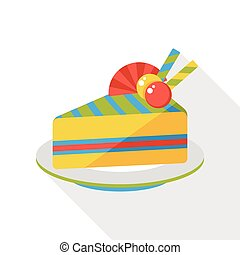 birthday cake flat icon
