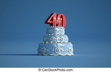 Birthday cake forty anniversary