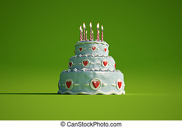 Birthday cake green