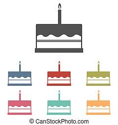 Birthday cake icons set