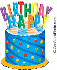 birthday cake - vector birthday cake with candles