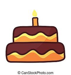 birthday cake on white background