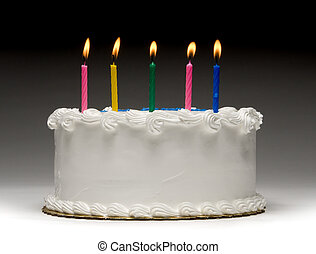 Birthday Cake Profile - White birthday cake profile on...