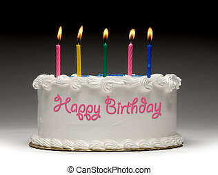 Birthday Cake Profile - White birthday cake profile on...