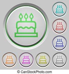 Birthday cake push buttons