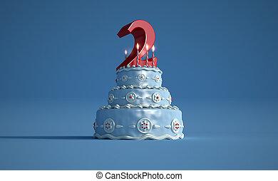 Birthday cake second anniversary