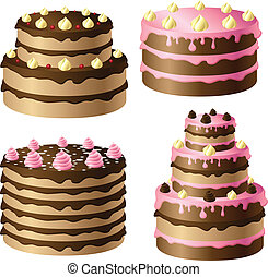 Birthday cake set - Birthday chocolate cake set with pink...