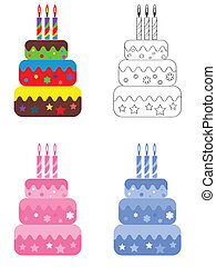 Birthday cake, set