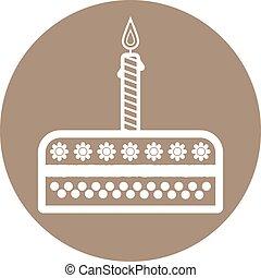 Birthday cake sign icon. Vector