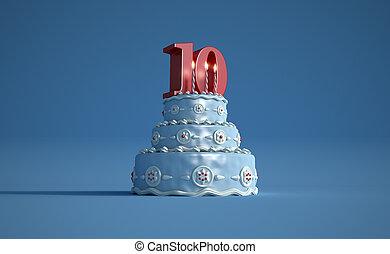 Birthday cake tenth anniversary