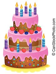 Birthday cake theme image 1
