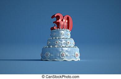 Birthday cake thirty anniversary