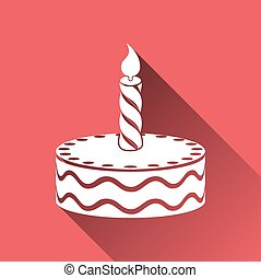 Birthday Cake Vector Illustration