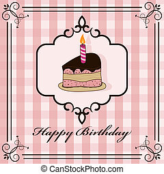 Birthday cake - Vector picture with birtchday cake