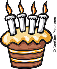 birthday cake with candles (cake with candles for birthday)