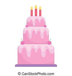 birthday cake with candles menu character cartoon food