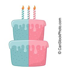 birthday cake with candles vector illustration