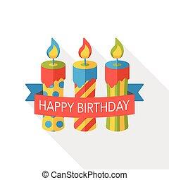 birthday candle flat icon