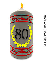 birthday candle for 80th birthday - birthday candle with the...
