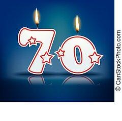 Birthday candle number 70 - Birthday candle number with...