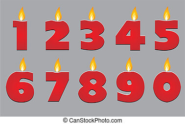 birthday candle vector - suitable for decorations