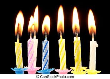 birthday, candles.