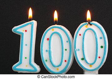 Birthday candles 100th