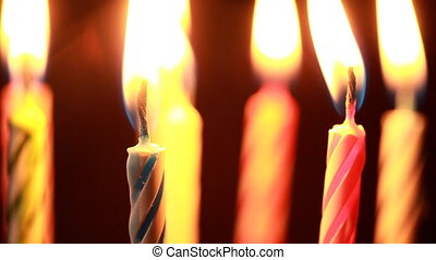 Birthday candles, close up